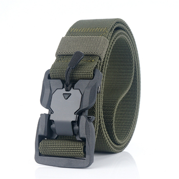 Light Military Equipment Combat Tactical Belts For Men Magnetic Buckle Adjustable Elastic Stretch Woven Army Training Nylon Belt