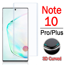 Protective glass on for samsung galaxy note 10 pro plus screen protector 3d glaxay note10 notes 10pro armor tempered glas film