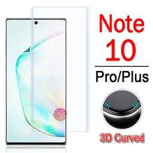 ป้องกันสำหรับ samsung galaxy note 10 pro plus screen protector 3d glaxay note10 หมายเหตุ 10pro เกราะกระจกนิรภัยฟิล์ม
