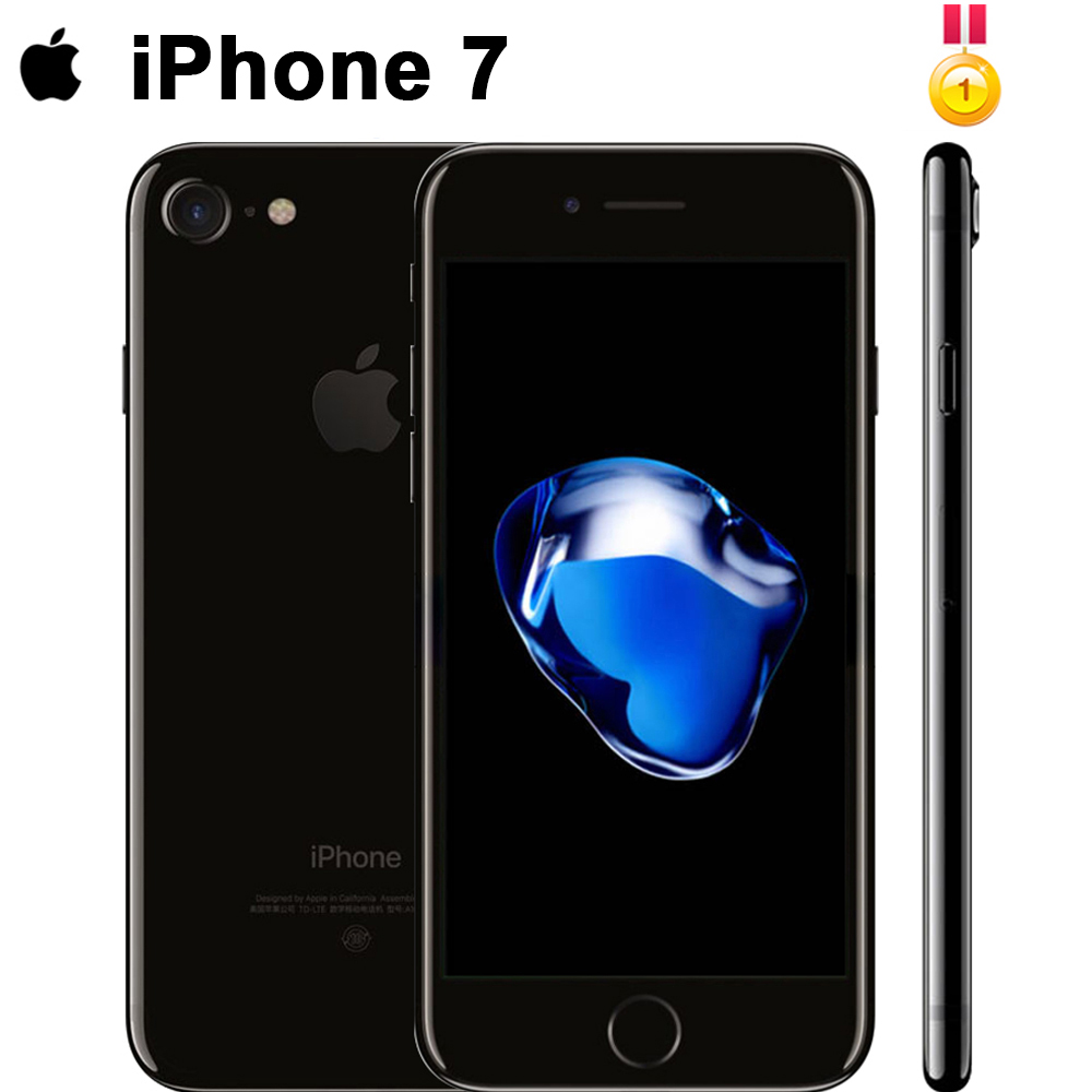 Unlocked Apple iPhone 7 4G LTE Cell Phone 32/128GB 1960mA 12.0MP Camera Quad-Core Fingerprint 12MP Original factory 99%new image