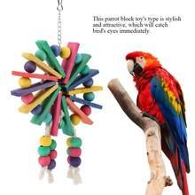 Cage suspendue en bois pour animaux de compagnie, jouet pour perroquets, oiseau, amusant, sur pied, fournitures d'entraînement