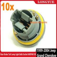 Longyue 10 pièces frein arrière feu arrière ampoule prise MOPAR OE pour 1999 2004 Jeep Grand Cherokee