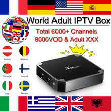 World IPTV X96 Mini Android 7.1 tv Box 6000 Live 8000 vod Adult Europe Arabic French USA German Iptv m3u Smart tv set top box(China)