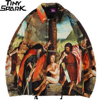 Men Hip Hop Jacket Streetwear Ancient Life Retro Vintage Jacket Windbreaker Harajuku 2019 Autumn Jacket Coat Street Wear Hipster - DISCOUNT ITEM  45% OFF All Category