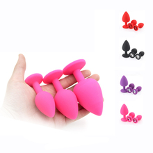 Silicone Butt Plug Anal Plug Unisex Sex Stopper 3 Different Size Adult Toys for Men/Women Anal Trainer for Couples printio кот kat