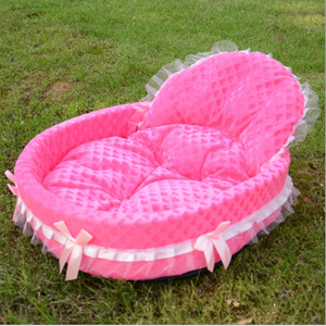 Image 2 - New luxury Dog House Kennel Nest Mat Pet Dog Bag House Cat Bed For Small Medium Dogs Pet Bed Sofa Product dog sofa teddy house