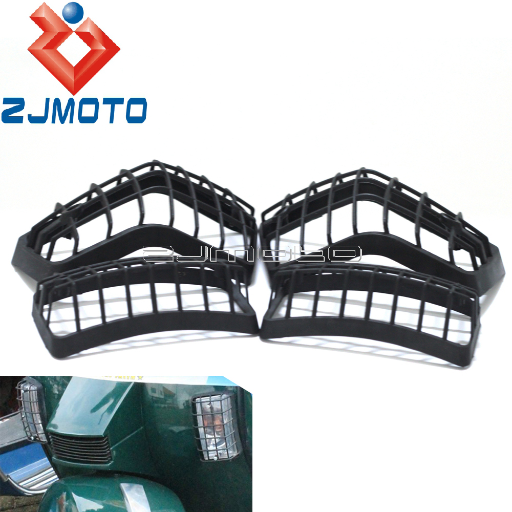 Clignotants en plastique pour moto grilles dobjectif pour Vespa PX gamme LML étoile avant arrière clignotants Protection couvercle de Protection