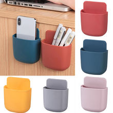 1pcs Wall Mounted Storage Box Remote Control Storage Organizer Case For Mobile Phone Plug Holder Stand Rack kawaii storage