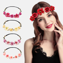 Floral Crown Fashion Flower Headband for Beatuiful Girls Hair Accessories Party Stylish diademas para mujer