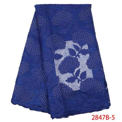 Африканская кружевная ткань высокого качества кружева новая швейцарская вуаль кружева швейцарская добавить камни нигерийские кружева вуаль ткань YA2847B-3 - Цвет: Picture5