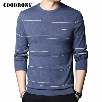 COODRONY Brand Sweater Men Streetwear Fashion Striped Pull Homme 2020 Autumn Winter New Arrival Wool Knitwear Pullover Men C1097 coodrony brand wool sweater men streetwear fashion striped pull homme spring autumn casual knitwear v neck pullover shirts c1089