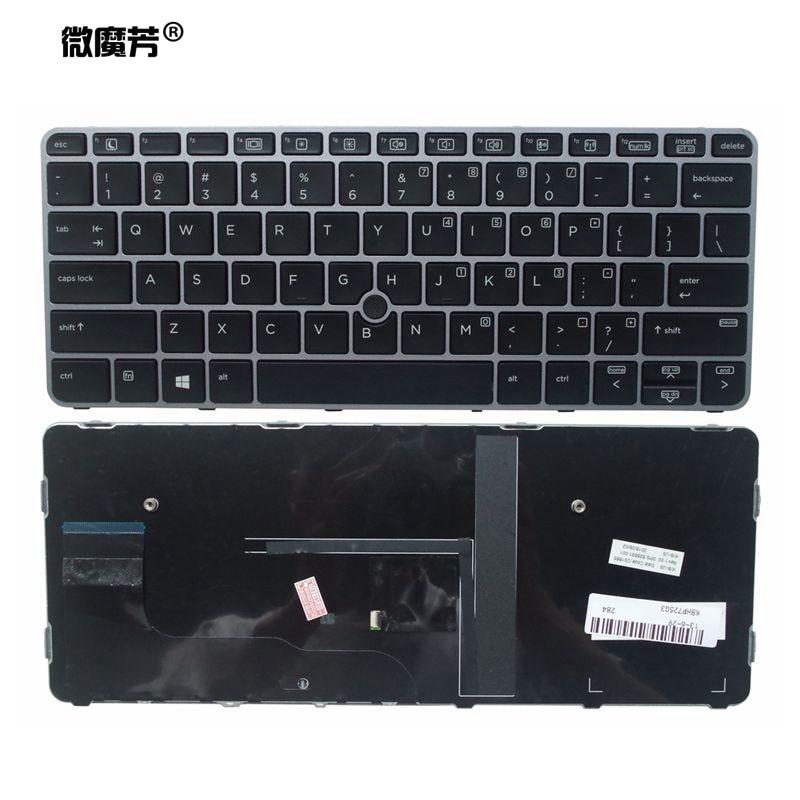 Клавиатура для ноутбука HP elitebook 725 G3 820 828 G4 на английском языке клавиатура с подсветкой 95% новая