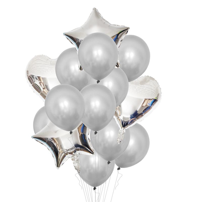 Twins Silver 2nd Birthday Decorations 2 Birthday Balloons Number Ballon I AM TWO Happy 2 Years Birthday Party Decorations Kids in Ballons Accessories from Home Garden