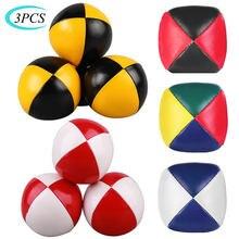 3 個ネットセットスーツ専門ジャグリングボールアクロバットトスボール教育玩具子供楽しいスポーツ pu ソフトジャグリングボールおもちゃ