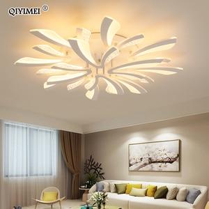 Image 3 - Modern LED ceiling chandelier lights for living room bedroom Dining Study Room White Black Body AC90 260V Chandeliers Fixtures