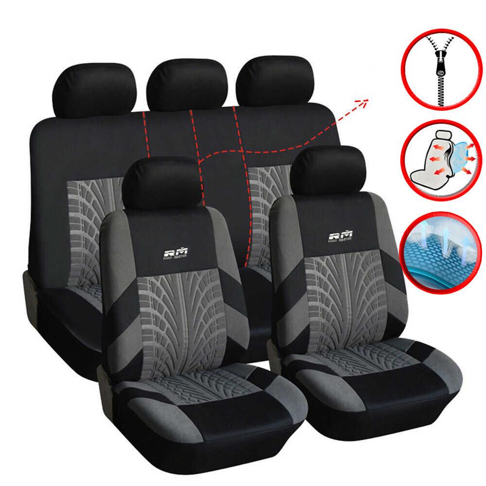 BLACK 2x CAR FRONT SEAT COVER PROTECTOR FORD FIESTA MK1 MK5 MK3 MK2 MK6 MK4
