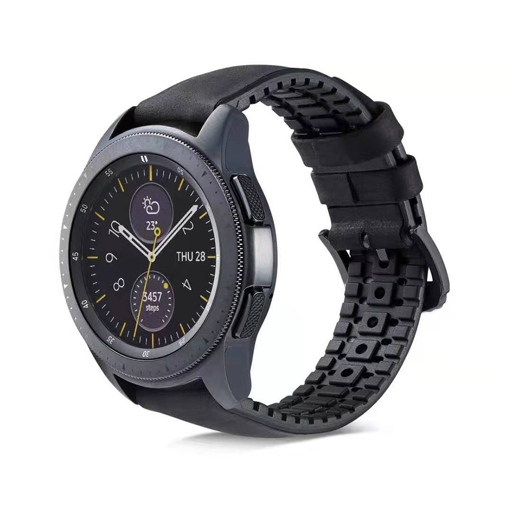 18 20 22mm Silicone Leather watch Strap for Samsung Galaxy Watch Band Gear S2 S3 Classic Frontier active for Huawei Watch GT