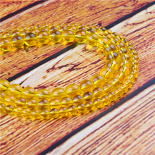 Yellow Glass Natural Stone Bead Round Loose Spaced Beads 15 Inch Strand 4/6/8/10/12mm For Jewelry Making DIY Bracelet