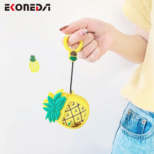 Image 3 - EKONEDA Liquid Glitter Protective Case For Airpods Strawberry Pineapple Avocado Silicone Cover For Airpods Case airpod pro shell