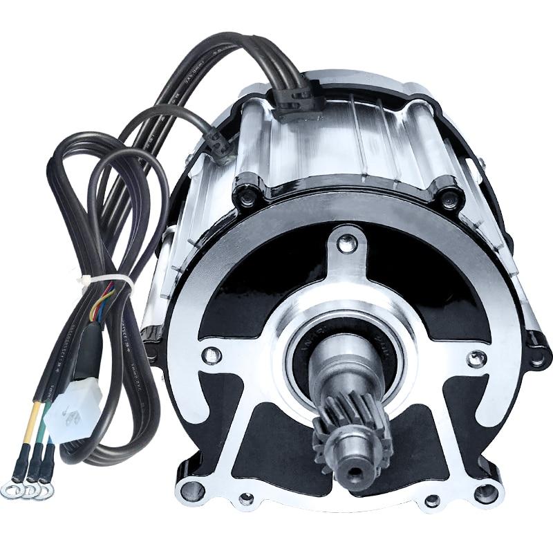 550W/800W/1KW/1.2KW/1.3KW/1.5KW/1.8KW 48V/60V/72V Electric Three/four-wheel Brushless High-speed Motor, Gear Shaft