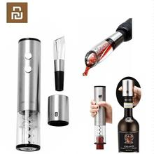 Youpin Automatic Wine Bottle Opener Electric Corkscrew Fast Decanter Round Stainless Steel Mini Plug Red Wine Stopper optional