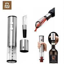 Youpin ouvre bouteille de vin automatique tire bouchon électrique décanteur rapide rond en acier inoxydable Mini bouchon de vin rouge en option