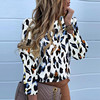 2020 Work Wear Women Blouses Casual Solid O Neck Long Sleeve Metal Buttons Shirt Tops Plus Size Autumn Blouse 5