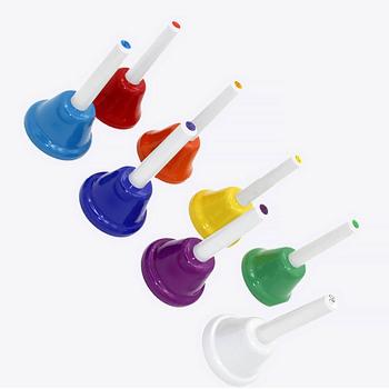 Instrument dziecko 8-uwaga zabawka muzyczna 8 sztuk zestaw wczesna edukacja blokowanie RFID zabawka dla dzieci dzwonek ręczny tanie i dobre opinie FANSIC