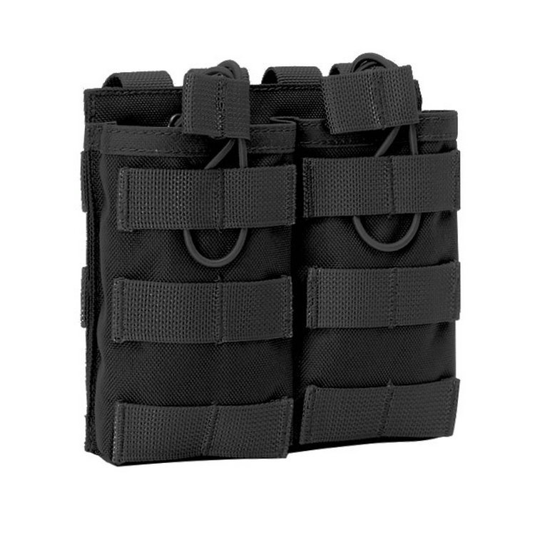 Tactical MOLLE Double Open-Top Mag Pouch for AR M4 M16 HK416 Magazines image
