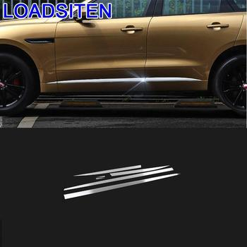 Decorative Automobile Chromium Auto Body Foot Pedal Exterior Covers Decoration Car Styling Modification 18 19 FOR Jaguar F-PACE