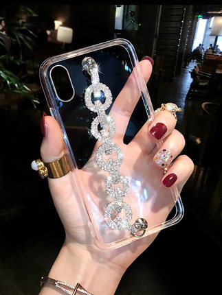 Luxury Bling Glitter Rhinestone <font><b>Case</b></font> For <font><b>Huawei</b></font> P40 P30 <font><b>P20</b></font> LiTE PLUS Mate 30 10 20 Pro Lite <font><b>Diamond</b></font> Chain Soft TPU Back Cover image