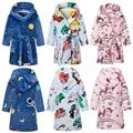 2020 Новый единорог с капюшоном; Детский банный халат платье с радугой для маленьких банный халат для мальчиков и пижамы для девочек Детская П...