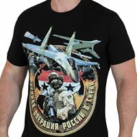 Russian Cotton Mens t shirt with print of a Military operation men t shirt
