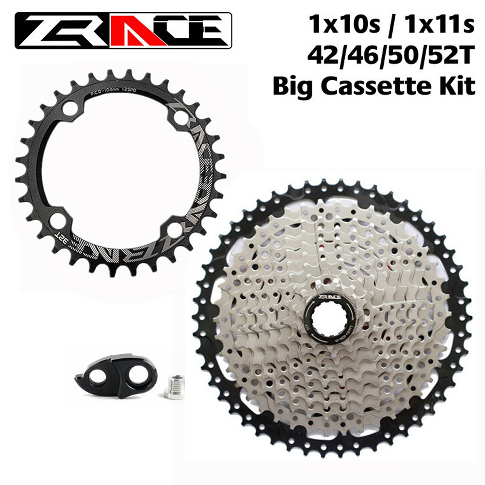 ZRACE 104BCD Chainrings 32T / 34T / 36T / 38T + FreewheelCassette 42T/<font><b>46T</b></font>/50T / 52T , 1x10 <font><b>11</b></font> Speed Big Cassette kit for SRAM GX image