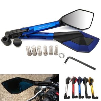 цена на Universal Motorcycle Rearview Mirror CNC Aluminum View Side Mirrors For Suzuki GSR 600 750 GSX S750 R 600 750 SFV SV 650 TL1000S
