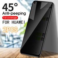 Protector de pantalla de vidrio templado para teléfono móvil Huawei, Protector de pantalla antiespía de privacidad para Huawei P30 P40 P20 Mate 10 20 30 Lite Pro Nova 5T Honor 8X 9X 10 20 30 30S