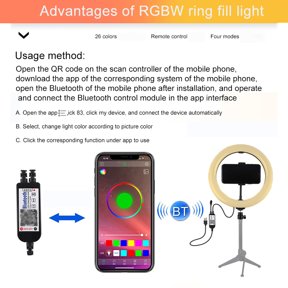 cheapest 8inch LED Selfie Ring Light for Live Stream Makeup YouTube Video  Dimmable Beauty Ringlight with Tripod Stand   Cell Phone Holder