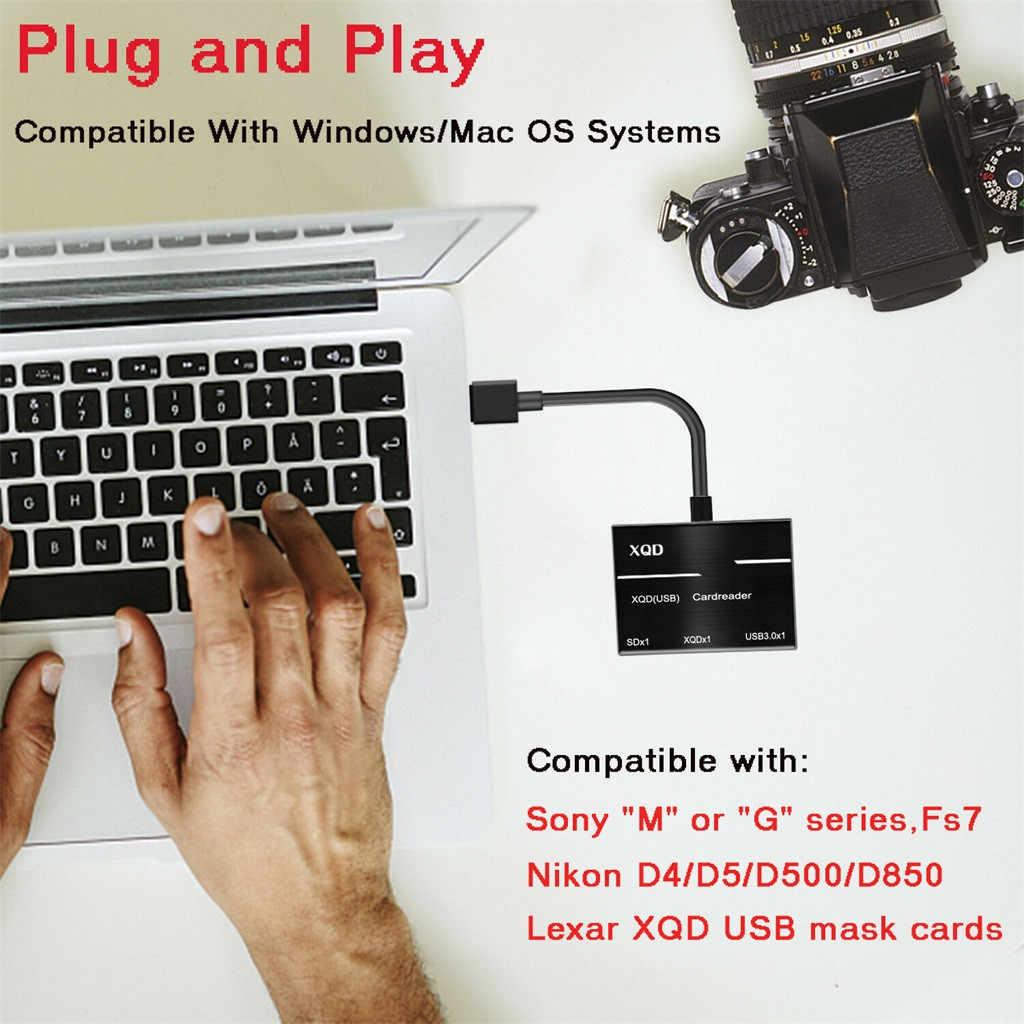 كاميرا XQD SD الذاكرة قارئ بطاقات USB 3.0 Hub محول لسوني لنيكون لكانون