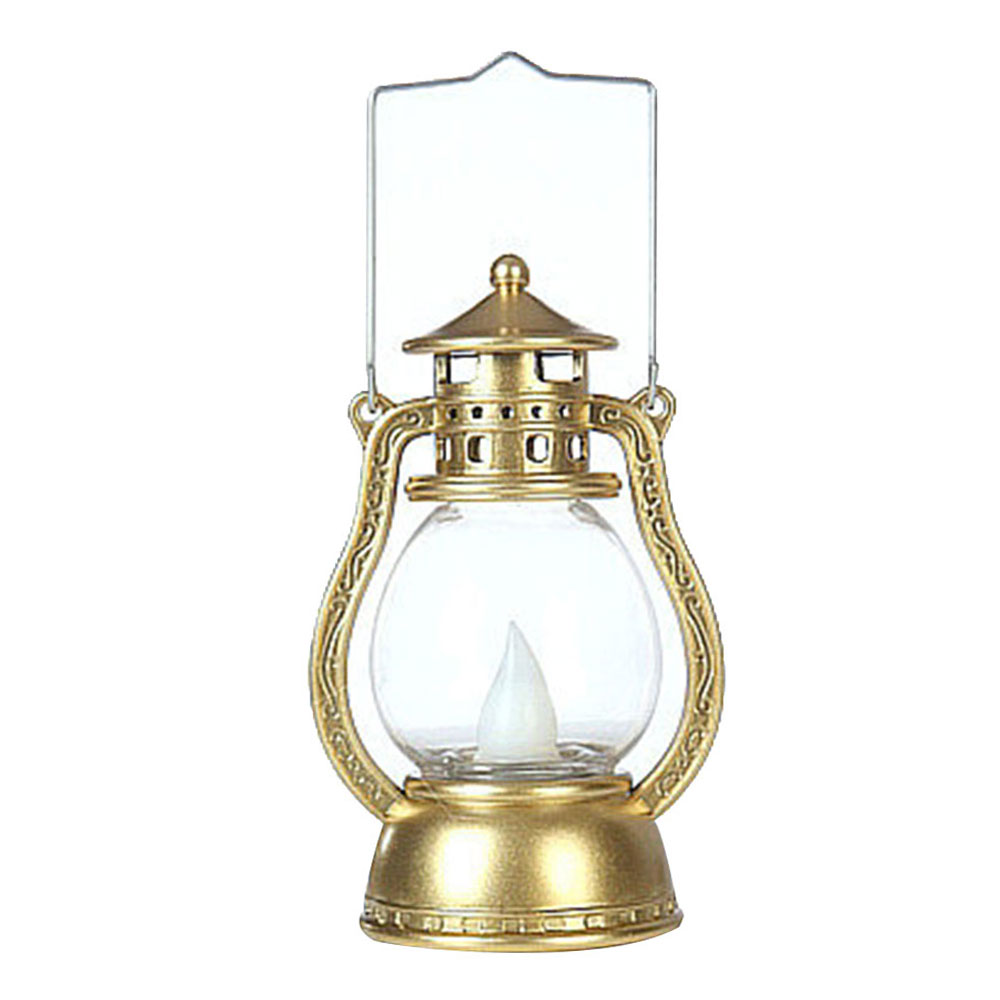 Подвесная лампа Хэллоуин Led Портативный фонарик винтажный креативный беспламенный лучший подарок электронный Декор на стену для дома - Испускаемый цвет: Gold