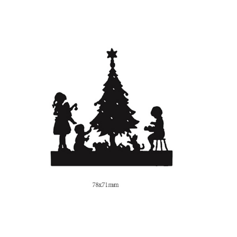 Xmas Santa Claus Tree Cutting Die Mould Embossing Scrapbook Card Stencil