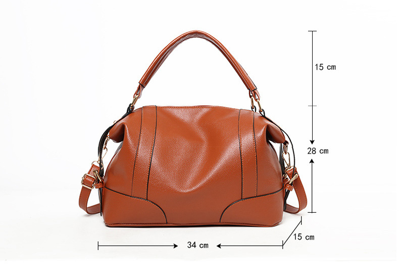 Vintage Women Handbags Luxury Designer 2019 Brand Purse Large Leather Boston Crossbody Bag for Ladies Office Hand Bag Black Blue (7)