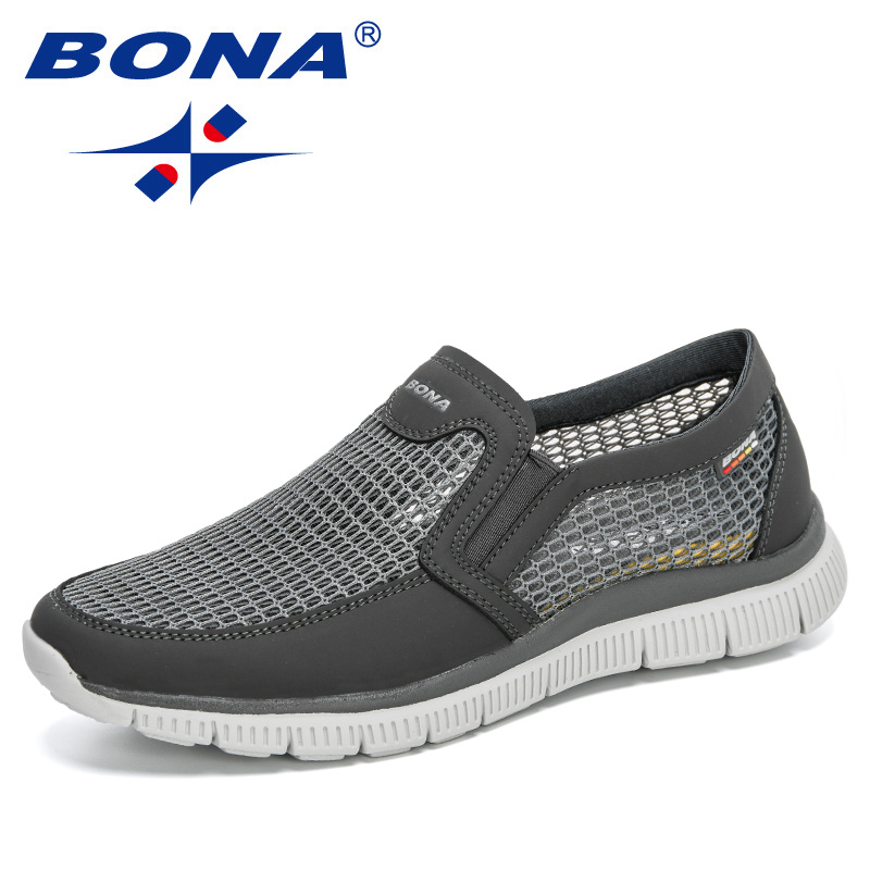 BONA 2020 New Designers Mesh Comfortable Lightweight Sneakers Men Shoes Tenis Masculino Zapatillas Hombre Sneakers Man Footwear