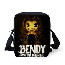 HaoYun Fashion Womens Messenger Bags Bendy and the Ink Machine Pattern Children Shoulder Cartoon Design Mini Flaps Bag