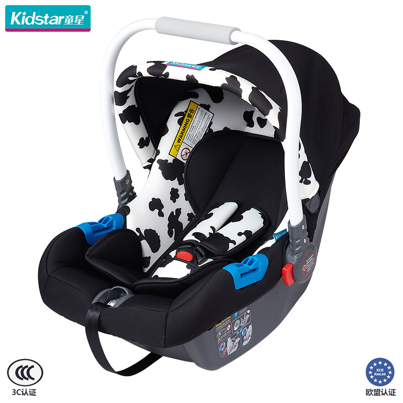 Child Star KS-2150 Baby Basket Safety Seat Portable Neonatal Baby Car Cradle Dairy Cow