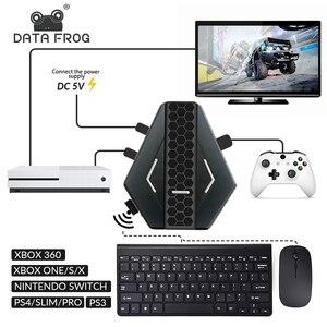 Image 1 - Los datos de la rana PUBG móvil juegos por cable de teclado conversor de ratón para PS4 Xbox one/360 Nintendo interruptor PS3 consola/Android SISTEMA DE