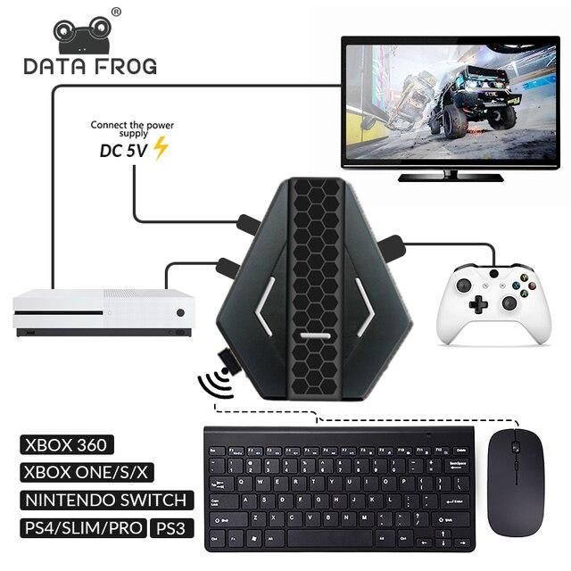 Los datos de la rana PUBG móvil juegos por cable de teclado conversor de ratón para PS4 Xbox one/360 Nintendo interruptor PS3 consola/Android SISTEMA DE
