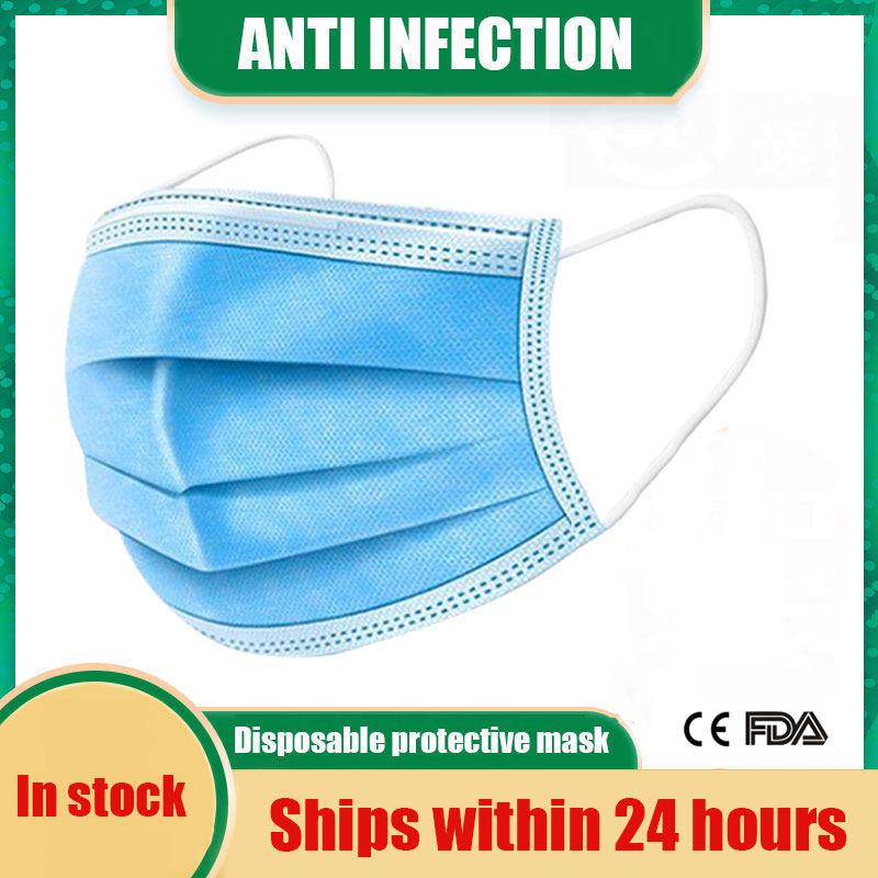 Fast Delivery Disposable Protective Mask 10/500pcs KN95 Mask 3 Layers Anti Bacterial Facial Cover FFP2 FFP3 Anti Dust Mask
