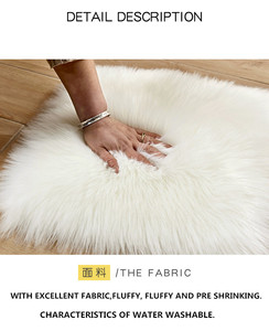 Image 2 - לבן פרוותי שטיח לחדר שינה ילדים ארוך פלאפי שטיחים נגד החלקה שאגי אזור שטיח אוכל חדר שטיח סלון דקו מלאכותי צמר