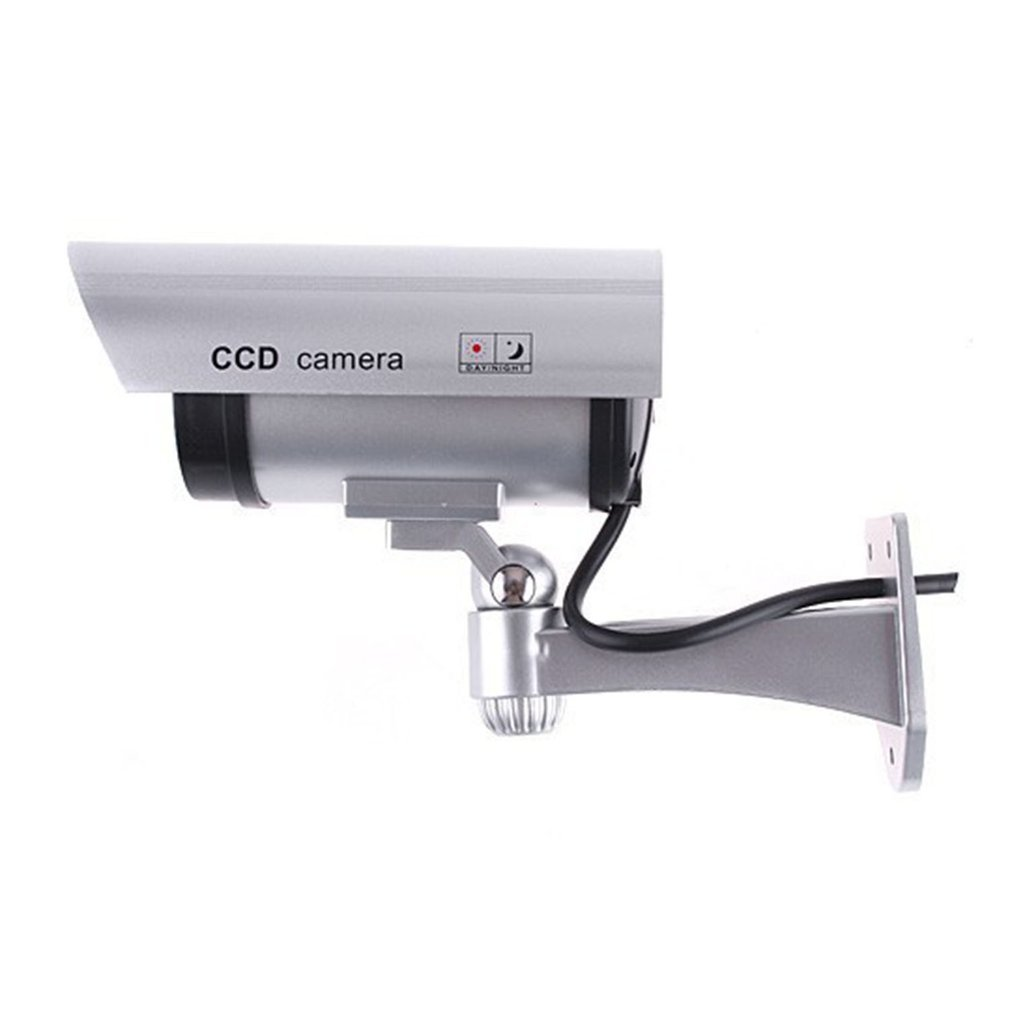 LESHP CA-11 Monitor Security Guard Simulation Surveillance Bullet Camera Outdoor Indoor Dummy IR Camera With Red Flashing Light