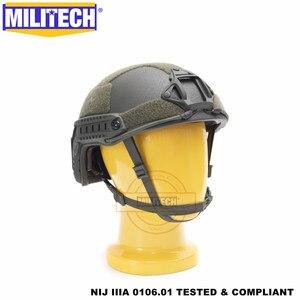 Image 4 - MILITECH balistycznych kask szybkie OD typu Deluxe robak Dial poziom NIJ IIIA 3A wysokie cięcie Twaron kuloodporne kask z 5 lat gwarancji